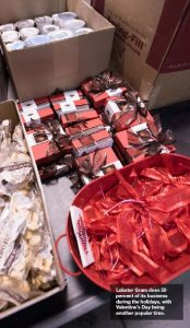 Lobster Gram does 50 percent of its business during the holidays, with Valentine's Day being another popular time.