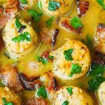 Seared Scallops with Bacon in Lemon Butter Sauce