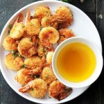 "Batter ""Fried"" Shrimp with Garlic Dipping Sauce"