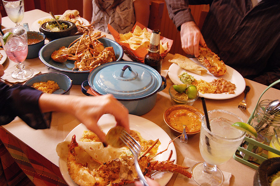 seafood holiday meal family