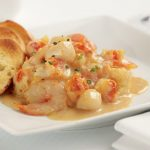 Lobster and Shrimp and Scallops in Garlic Butter Sauce