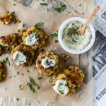 Lobster Corn Fritters with Truffle Herb Mayo